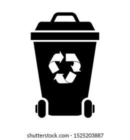 Recycle bin icon on a white background