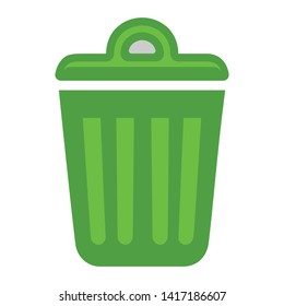 Recycle bin icon. trash symbol - garbage can, delete recycling icon