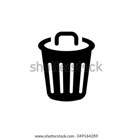 Recycle Bin Icon Trash Symbol Stock Vector Royalty Free 349564289