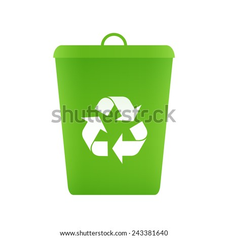 Recycle Bin Icon Vector Stock Vector Royalty Free 243381640