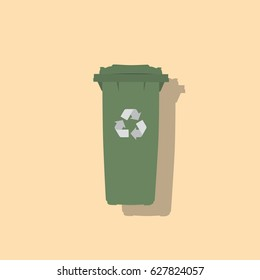 Recycle bin icon, vector illustration design. Ecology objects collection.