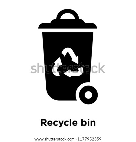 Recycle Bin Icon Vector Isolated On Stock Vector Royalty Free