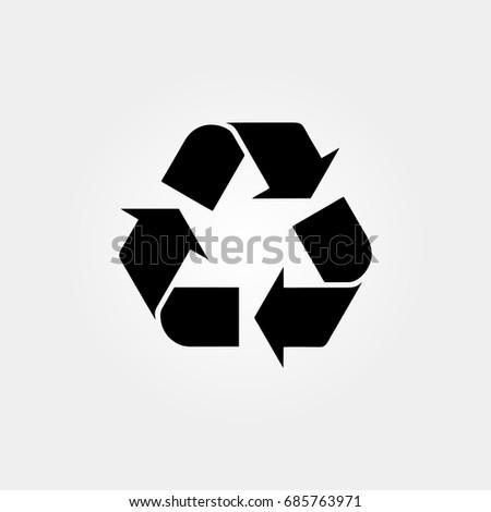 Recycle Bin Icon Vector Sign Symbol Stock Vector Royalty Free