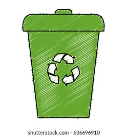recycle bin isolated icon