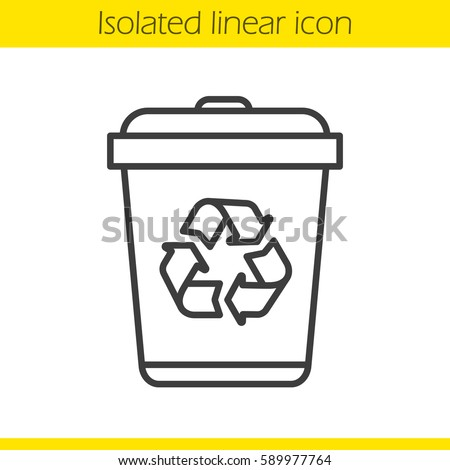 recycle bin linear icon dustbin thin stock vector royalty free