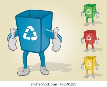 Recycle Bin With Two Thumbs Up