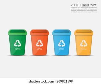 Recycle Bins,vector