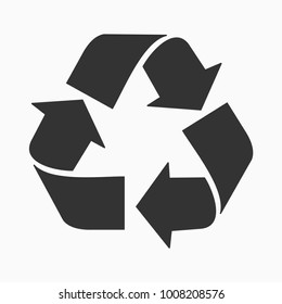 recycle care blac color icon