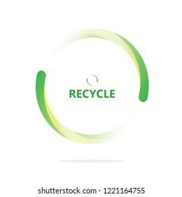Recycle clean logo concepts vector.Renewable energy design