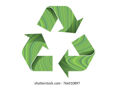 Recycle color Light green wood vector icon on white background,for graphic design,Web site, EPS 10