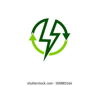 Recycle Energy Recycle Power Logo Design Template