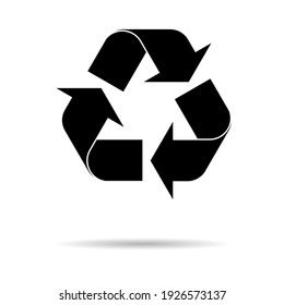 Recycle environment icon,Eco nature waste isolated with shadow, garbage ecology system .