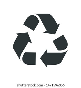 Recycle Flat Design Icon Vector