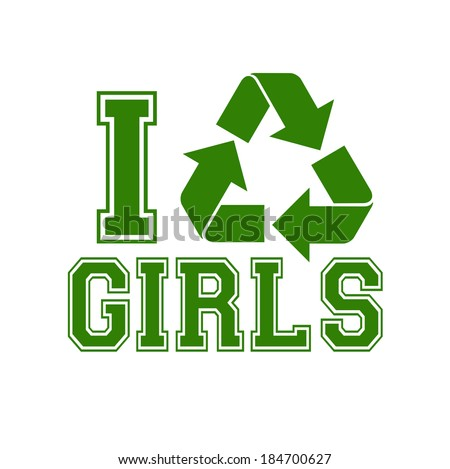 recycle girls template suitable posters flyers stock vector royalty