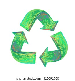 Recycle green symbol or sign of conservation. Vector Illustration for your design