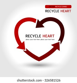 Recycle heart, recycle red, save world , Love Recycle , symbol recycle, Valentine