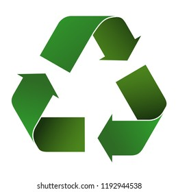 recycle icon 3d with green colors for infographics