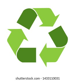 Recycle icon 3d with green colors for infographics.