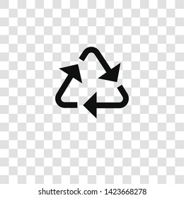 recycle icon from miscellaneous collection for mobile concept and web apps icon. Transparent outline, thin line recycle icon for website design and mobile, app development