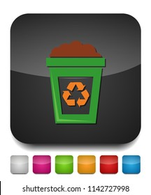 recycle icon, recycling garbage can, ecology symbol