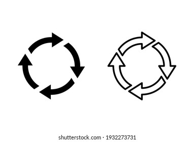 Recycle icon set. Recycling vector icon.