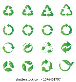 recycle icon set. Recycle vector symbols.
