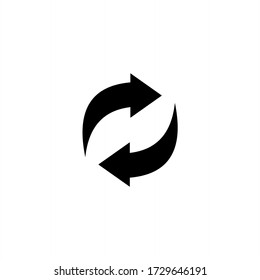Recycle icon symbol vector. Recycling and rotation arrow icon