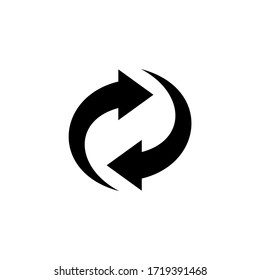 Recycle icon symbol vector. Refresh and rotation arrow icon