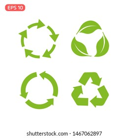 Recycle icon template color editable. Recycle Recycling symbol vector sign isolated on white background illustration for graphic and web design.