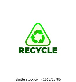 Recycle icon vector. Design template.