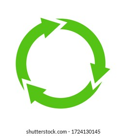 Recycle icon vector illustration isolated on blank background