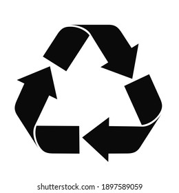Recycle icon vector isolated on white background