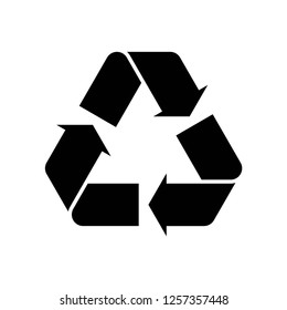 Recycle icon vector on white background editable eps10