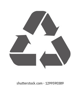 Recycle icon vector on white background. Recycle icon page symbol for your web site design recycle icon logo, app, UI. EPS 10.