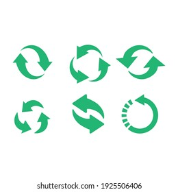 Recycle icon vector set. Best recycle symbol. Isolated on a blank background. Can be edited and changed colors.