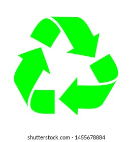Recycle icons are designed in green to make them more natural and good to see