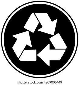 partially recycled content symbol recycle symbol stock vector Alu Circuit Symbol recycle insignia