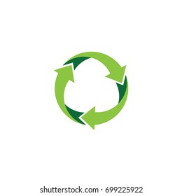Recycle logo or icon template vector design