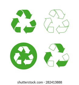 Recycle logo vector set
