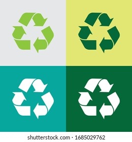 Recycle and packaging sign, vector