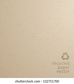 Recycle paper texture - cardboard, realistic vector graphic