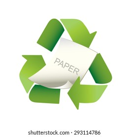 Recycle Paper vector recycle symbol