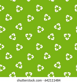 Recycle pattern. Seamless ecology pattern. Flat vector cartoon illustration. Objects isolated on a white background.World Environment Day poster.