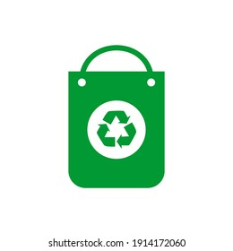 Recycle plastic bag icon vector logo template