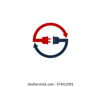 Recycle Power Energy Logo Design Element