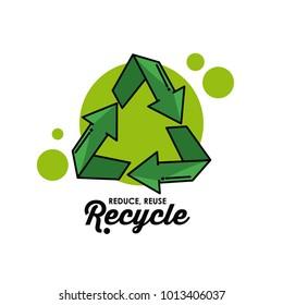 Recycle round symbol