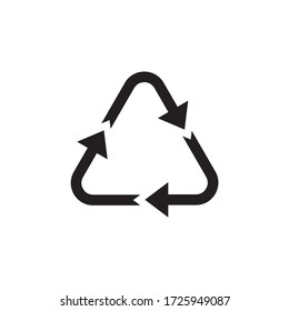 Recycle sign symbol icon illustration