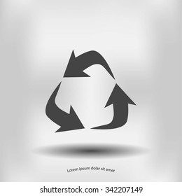 Recycle sign vector icon