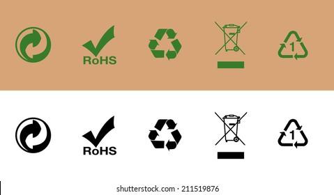Recycle Symbol Cardboard