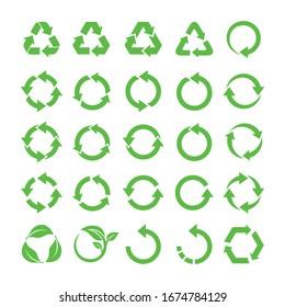 Recycle symbol design. Vector illustration.